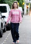 Emma Rigby looks cute as she steps out make-up free in London, UK