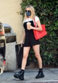 Emma Roberts makes a stop at a newsstand during a coffee run in Los Feliz, California