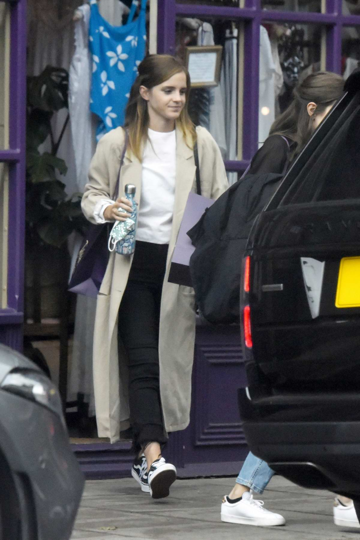 Emma Watson seen out shopping for lingerie at Tallulah Lingerie in North London, UK