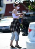 Ireland Baldwin loads up on groceries with a friend ahead of the 4th of July holiday in Los Angeles