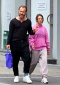 Iris Law steps out for shopping with her dad Jude Law on the Hampstead High Street in London, UK