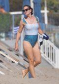 Jennifer Garner shows off her summer body in a swimsuit on the beach in Malibu, California