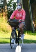Jennifer Lopez and Alex Rodriguez seen enjoying a bike ride in The Hamptons, New York