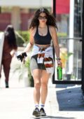 Jessica Gomes shows off her toned figure as she leaves after a workout session in West Hollywood, California