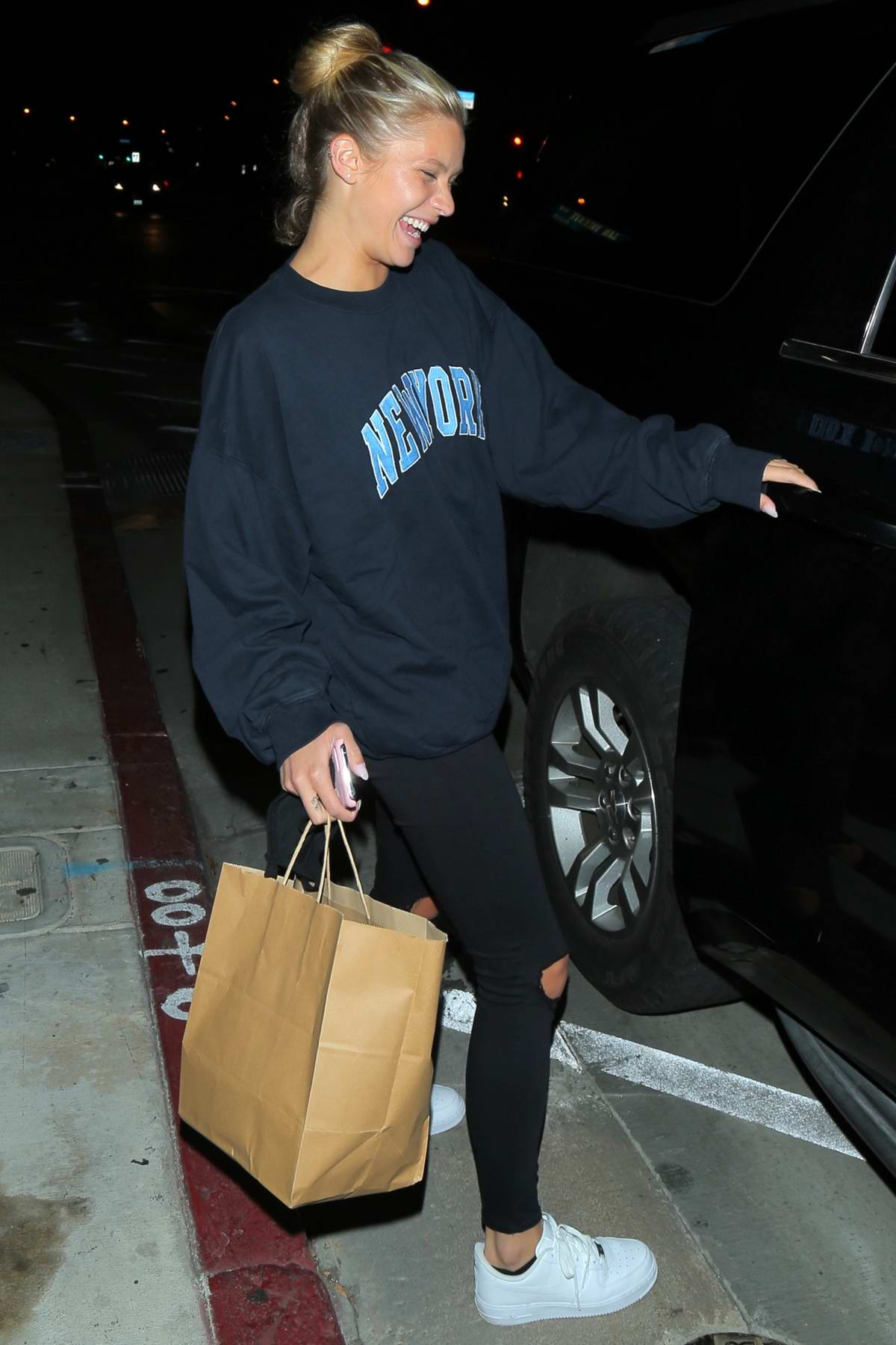 Josie Canseco is all smiles as she leaves Catch after dinner with a friend in West Hollywood, California