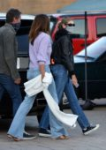 Kaia Gerber meets up with Cindy Crawford and Rande Gerber for a family dinner at Nobu in Malibu, California
