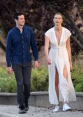 Karlie Kloss looks stunning in a white dress as she steps out with husband Joshua Kushner in Los Angeles