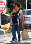 Kate Mara takes her baby girl and stepson Jack to the Descanso Gardens in Los Angeles