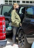 Katherine Schwarzenegger hires a professional car seat installer for the baby in Santa Monica, California