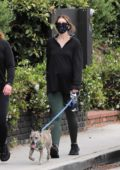Katherine Schwarzenegger steps out for her daily walk with a friend in Santa Monica, California