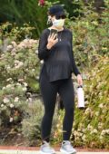 Katherine Schwarzenegger takes her baby bump out for a stroll in Brentwood, California