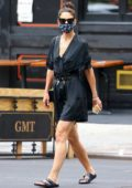 Katie Holmes looks great in all-black as she steps out in Soho, New York City
