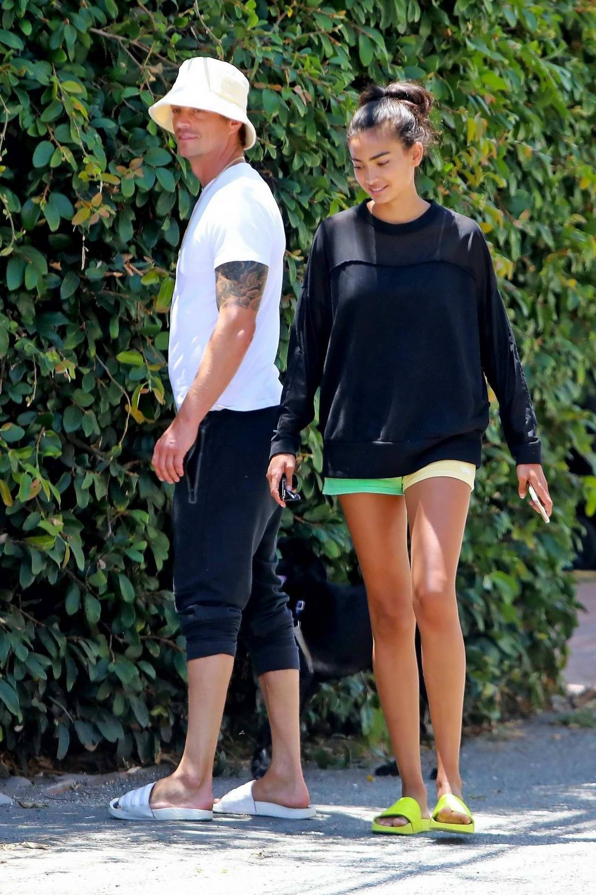 Kelly Gale steps out for walk with boyfriend Joel Kinnaman in Venice, California