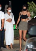 Kendall Jenner and Hailey Bieber seen leaving after dinner at Nobu in Malibu, California