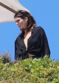 Kendall Jenner and Kourtney Kardashian film a scene for 'Keeping Up With The Kardashians' on a hillside in Malibu, California