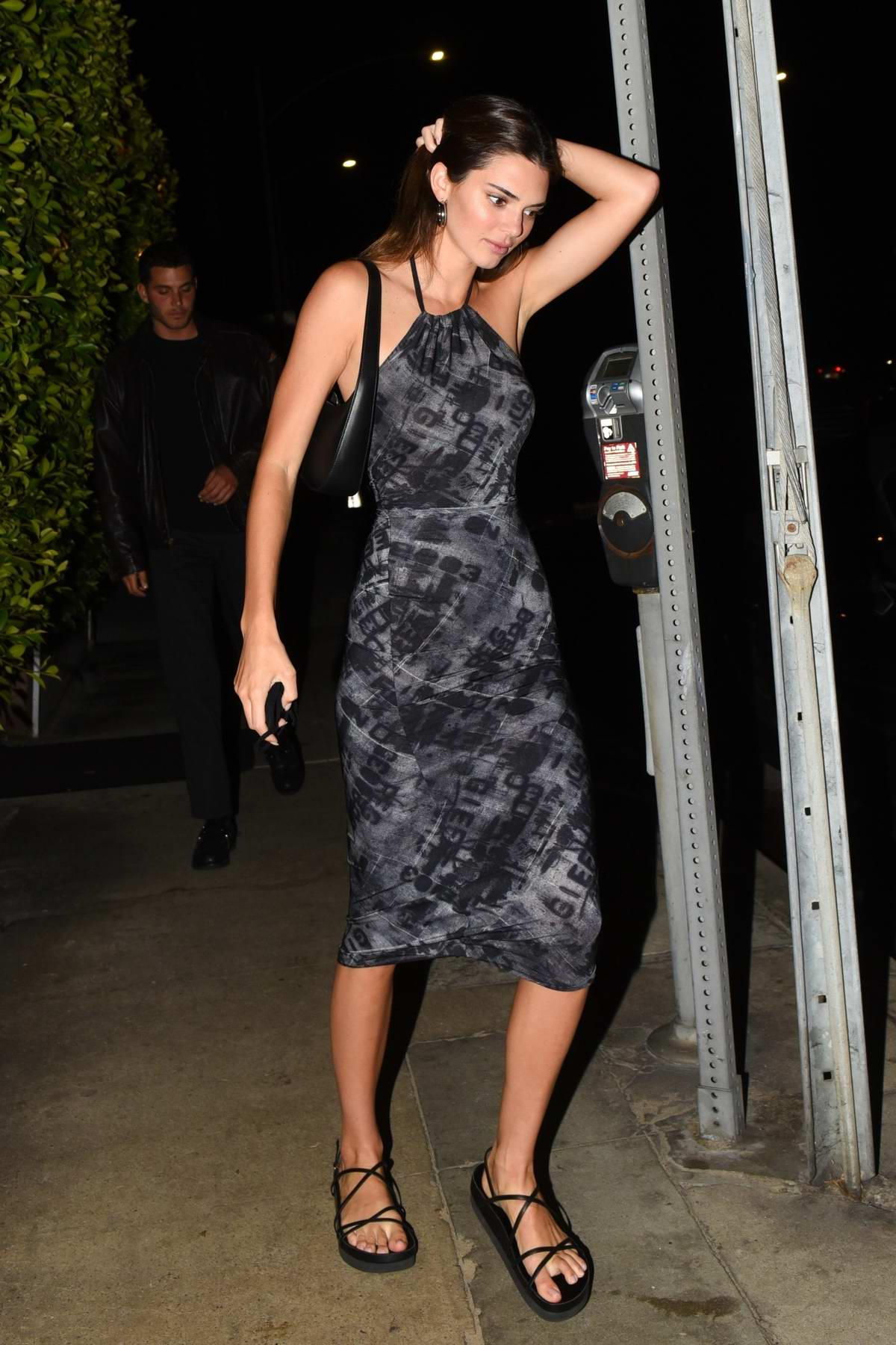 Kendall Jenner looks gorgerous as she steps out for dinner with Fai Khadra at Giorgio Baldi in Santa Monica, California