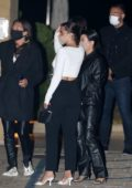 Kourtney Kardashian and Addison Rae seen exiting Nobu after dinner with friends in Malibu, California