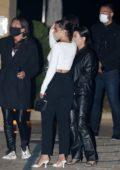 Kourtney Kardashian and Addison Rae seen exiting Nobu after dinner with friends in Malibu, California