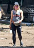 Kristen Bell seen visiting the site of her new home with her husband Dax Shepard in Los Feliz, California
