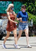 Kristen Stewart and girlfriend Dylan Meyer hold hands while out for lunch at Kitsune in Los Angeles