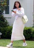 Kylie Jenner looks amazing in all-white as she leaves a luxury beach hotel in Laguna Beach, California