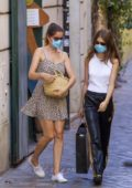 Laetitia Casta steps out for some shopping with her daughter Sahteene Sednaoui in Rome, Italy