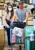 Lily Collins and Charlie McDowell stock up on groceries at Whole Foods in West Hollywood, California