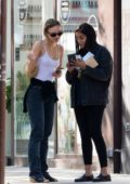 Lily-Rose Depp and Leïla Bekhti meet up for lunch at Café Quartier General in Paris, France