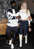 Lindsey Vonn and PK Subban enjoy a romantic date night at Catch Restaurant in West Hollywood, California