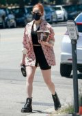 Madelaine Petsch keeps it trendy as she makes a stop for some coffee drinks in Studio City, California