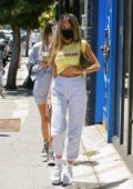 Madison Beer shows off her midriff during a shopping outing on Melrose Avenue in West Hollywood, California