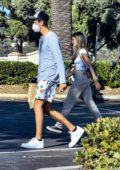 Madison Beer spotted picking up some Sushi for lunch with a mystery man in Calabasas, California
