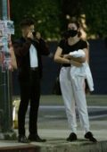Maia Mitchell and Rudy Mancuso spotted while waiting for their ride during a date night in Los Angeles