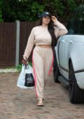 Marnie Simpson and boyfriend Casey Johnson seen arriving home after some shopping at M&S Food in Bedfordshire, UK