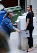 Minka Kelly seen fixing the mailbox with her dad Rick Dufay in Los Angeles