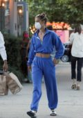 Nina Agdal and Jack Brinkley-Cook pick up some takeaway from Tutto Il Giorno restaurant in The Hamptons, New York