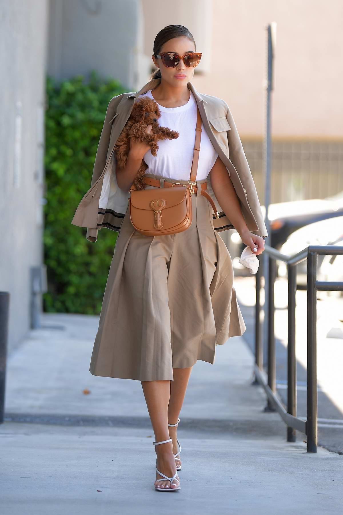 Olivia Culpo looks stylish in chic Dior ensemble as she take her pup to the vet in Los Angeles