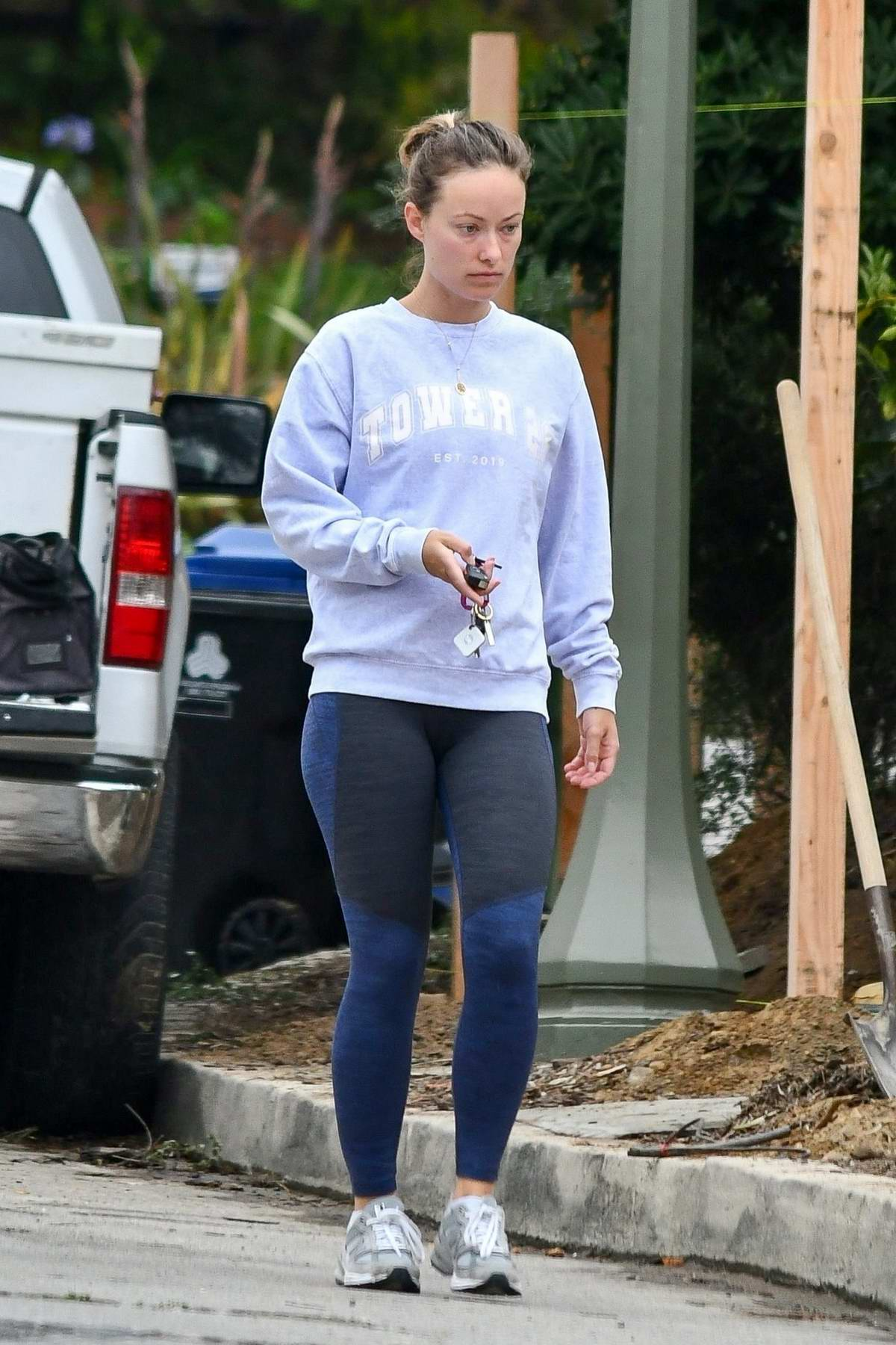 Olivia Wilde keeps it casual as she takes her daughters to a kids club in Los Angeles