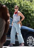 Olivia Wilde seen visiting Chris Pine for a future project in Los Feliz, California