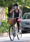 Reese Witherspoon stays active on a bike ride in Brentwood, California