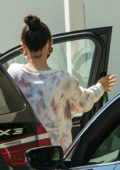 Selena Gomez gets camera shy after treating herself to a Spa Treatment in Sherman Oaks, California