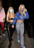 Tana Mongeau enjoys a night out with friends at Catch in West Hollywood, California