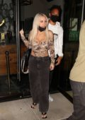 Tana Mongeau enjoys a night out with Keelan Doss at Catch restaurant in West Hollywood, California