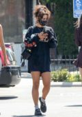 Vanessa Hudgens seen leaving after her workout session with a friend in Los Angeles