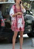 Alessandra Ambrosio keeps it casual yet chic while out in Brentwood, California