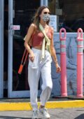 Alessandra Ambrosio steps out to get some shopping done in Brentwood, California