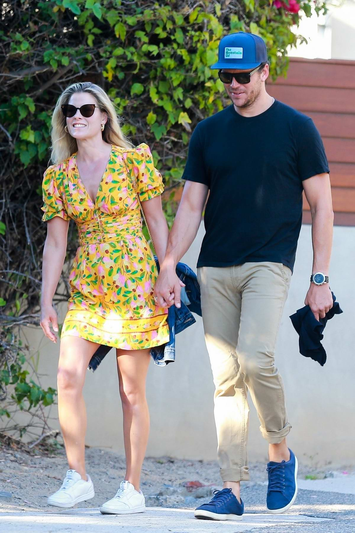 Ali Larter looks great in a floral print dress while on her way to a friend's house in Malibu, California