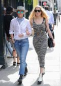 Amber Heard and girlfriend Bianca Butti hold hands as they step out for some shopping in London, UK