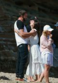 Ana de Armas and Ben Affleck look much in love during a romantic beach day with Matt Damon and his family in Malibu, California