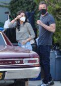 Ana de Armas seen leaving with Ben Affleck after a photoshoot in Malibu, California